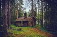 secluded cabin