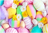 Finely Decorated Easter Eggs with a Sprinkle of Flowers