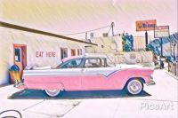 Pink Cadillac  Route 66
