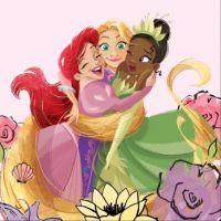 Ariel, Rapunzel and Tiana