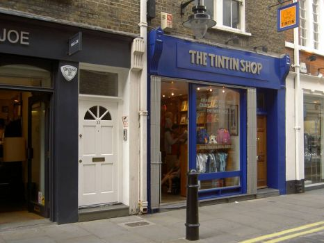 The Tintin shop in London