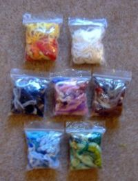 Crafts - Crochet, Knitting & Tapestry Needlepoint - Yarn Wool - Leftover Bits Bags