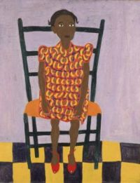 Little Girl in Orange - William H. Johnson