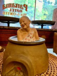 Figurine of a Woman Bathing, the Historic Panama Hotel and Tea House, Seattle, Washington