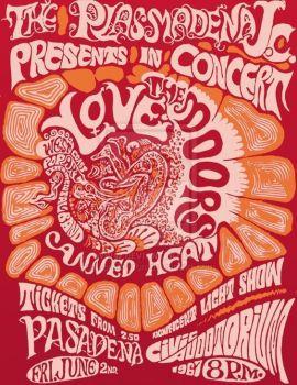 Vintage poster Civic Auditorium, Pasadena 1967