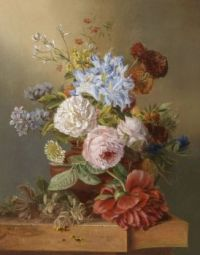 Still Life with Flowers by Joseph Schuster