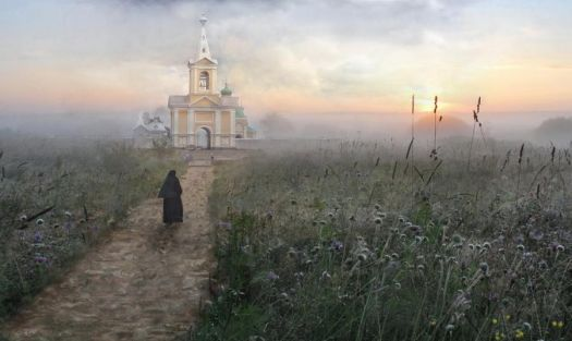 Church in Dawn Mist