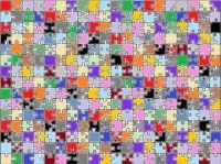Mixed coloured puzzle