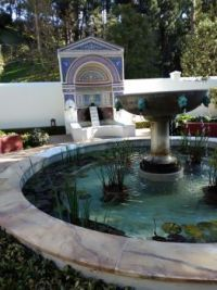 Fountain and Shrine at the Getty Villa