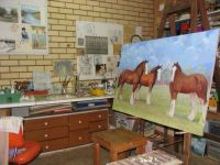 In memory of my Mum, Eileen Glover. Her last horse commission - not finished but nearly there