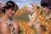 """When Flowers Return"" 1911-Sir Lawrence Alma-Tadema"