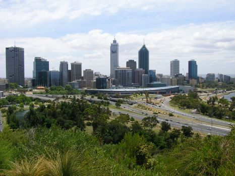 Perth City from Kings Park, Perth, Western Australia