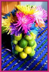 Lemon Lime Centerpiece