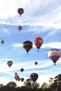 A Beautiful  Arizona Sky Background For The Balloon Races