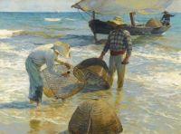 Joaquín Sorolla (Spanish, 1863–1923),  Pescadores Valencianos (1895)