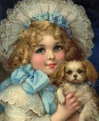 Girl with Puppy by Frances Brundage