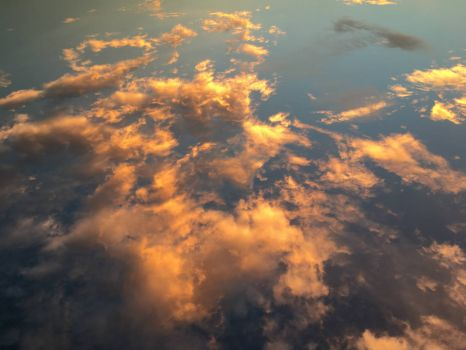 Golden sunsetting clouds