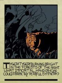 "Woodcut of First Stanza of William Blake's ""Tiger"""