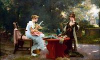 Marcus C Stone (1840-1921) - Her First Love Letter