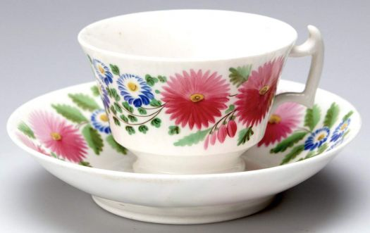 18th Century English Porcelain Cup and Saucer