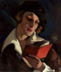 Woman Reading Polish1890-1966 Warsaw 000