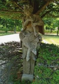 Satyr Sculpture in a Tree.