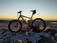 Bicycle in sunset - Synesvarden - Norway