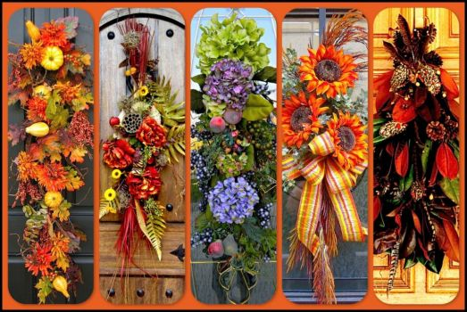 Door Swags for Fall - BOARDS!