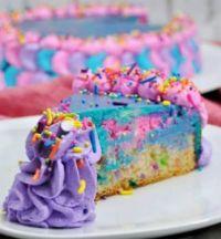 Magical unicorn cheesecake