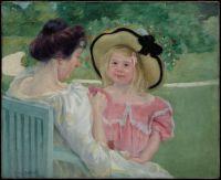 Mary Cassatt Artwork  -  'In the Garden'