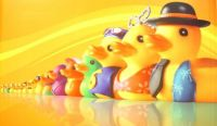 Colourful Rubber Duckie