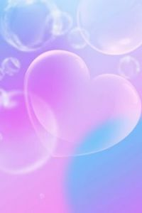 heart shaped bubbles in decent colours