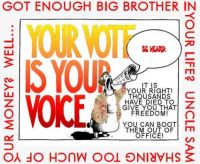 Exercise your right ... be heard!