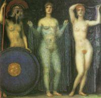 Franz Stuck - The Three Godesses, Hera, Aphrodite, Athena