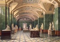 Luigi Premazzi (Italian, 1814–1891), Interiors of the New Hermitage: The Room of Modern Sculpture (1856)