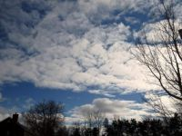 Blue Sky with Fluffy White Clouds -2
