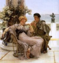 """Courtship, The Proposal"" 1892-Sir Lawrence Alma-Tedema"