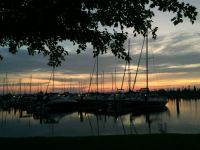 Elk Rapids Harbor at Sunset