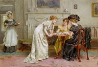 George Goodwin Kilburne - Afternoon tea.