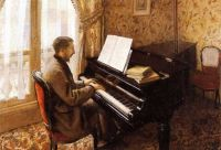 Gustave Caillebotte--Young Man Playing the Piano, 1876
