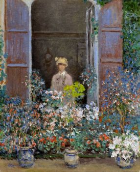 Claude Monet - Camille Monet at the Window, Argentuile, 1873 (May17P09)