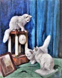 Drei neugierige Katzen/Three Curious Cats