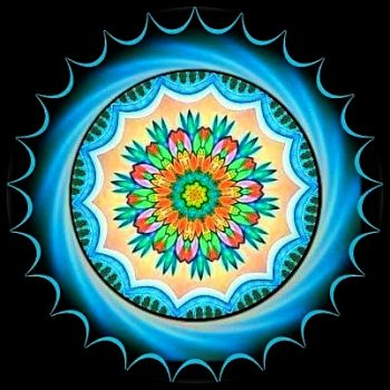 Malovaná mandala / Painted Mandala - Kaleido, pic by lyella