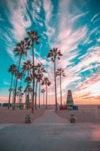 Sunset, Venice Beach, California -