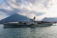 "Paddle steamer, ""Blumlisalp"" on Lake Thun!!"