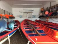 Whaling boats in Terceira, Azores, Portugal