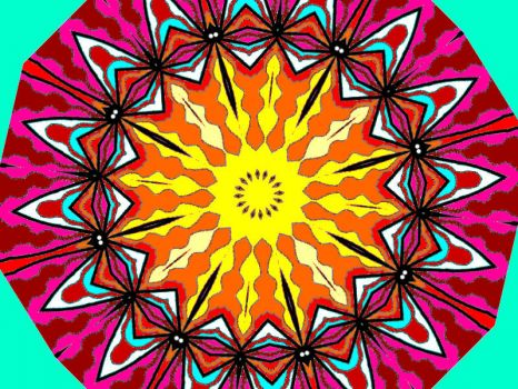 Kaleido with Pink & Yellow