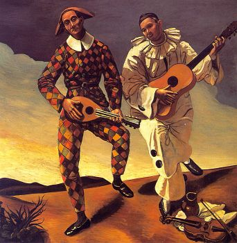 Harlequin and Pierrot by Andre Derain
