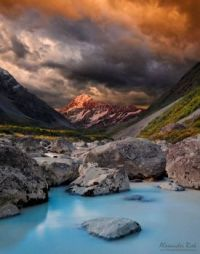 glacial waters, south Island, New Zealand