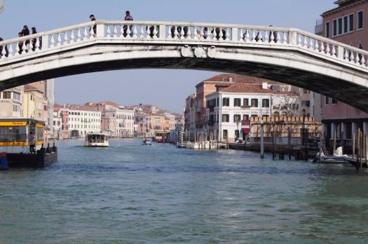 Travel by Water Taxi on Grand Canal, Venice